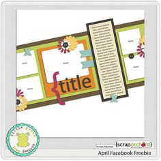 """Free template on the Little Green Frog Facebook page (""""Like"""" the page to get the freebie.)"""