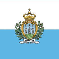 San Marino National Flag Stickers
