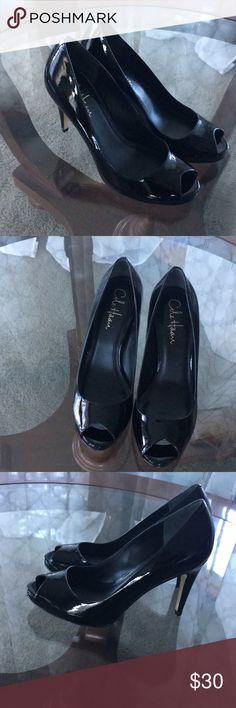 Cole Haan open toe black heels dress shoes New never worn. Black Dress With Heels, Dress And Heels, Black Heels, Dress Shoes, Shoes Heels, Fashion Tips, Fashion Design, Fashion Trends, Cole Haan