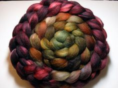 Polwarth/Silk Combed TOP oz - Burning Bush 2 from Corgi Hill Farm. Would make a great yarn with a lot of character just from the colours. Spinning Wheels, Spinning Yarn, Roving Yarn, Burning Bush, Yarn Inspiration, Arm Knitting, Colour Schemes, Fiber Art, Sheep