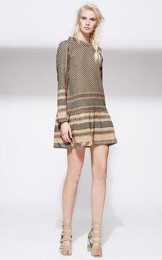 Cecilie Copenhagen Peach Cotton Dress Style 2 by CECILE COPENHAGEN Now Available on Moda Operandi