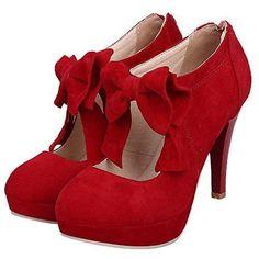 Oferta: 54.99€ Dto: -45%. Comprar Ofertas de Mujeres Zapatos de tacón HooH Gamuza Bowknot Plataforma Tacón alto Cremallera Stiletto Boda Zapatos de tacón Rojo 42 EU barato. ¡Mira las ofertas!