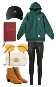 """""""Untitled #1337"""" by veronice-lopez ❤ liked on Polyvore featuring Gucci, Citizens of Humanity, Yves Saint Laurent, RetroSuperFuture, adidas, Smythson and myoutfitdatewithlouistomlinsonandharrystyles"""