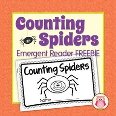 Spiders and Halloween fun for your preschool, pre-k or kindergarten classroom.  The books print two per page, making them super easy to assemble.This emergent reader is also included in my Spider Bundle:  Math and Literacy Activities for ECE.The cute pictures and simple, predictable text in this 7 page spider counting book make it a perfect emergent reader for young children.