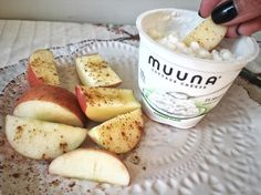 """""""I only started enjoying cottage cheese about ten years ago.  But guess what?  My nine-year old tried Muuna and LOVES it.  Clearly he takes after his mama, with his food-loving soul.  One of our favorite ways to enjoy Muuna, is dipping apples sprinkled with cinnamon, into the plain version.  It gives that perfect salty/sweet that our taste buds go crazy for!  The packaging is so convenient, I can even take them on the train with me, or enjoy one at my desk for a nutritional breakfast or…"""