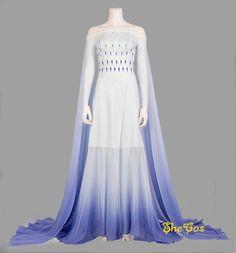 Elsa Costume Frozen 2 Elsa White Cosplay Dress for Adult & Women Elsa Cosplay, Cosplay Dress, Disney Princess Dresses, Disney Dresses, Adult Anna Costume, Frozen 2 Elsa Dress, Jasmin Party, Rajputi Dress, Fantasy Dress