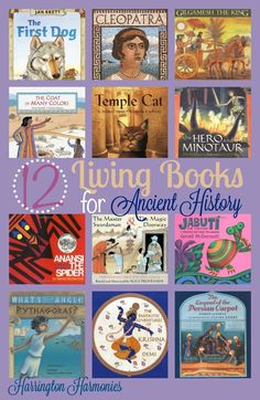 If you need a Living Book List for Ancient History this is a fun and enjoyable booklist for your homeschool as you study ancient history. Fun for any age to read, but this list focuses on picture books.