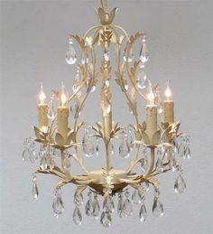 "Wrought Iron Tole Crystal Chandelier Chandeliers Lighting 5 Lights 21""X18"" | eBay"