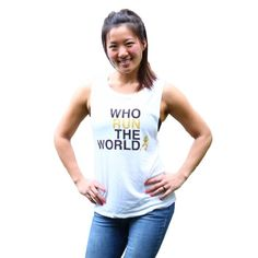 "Barbell Babes Running CrossFit Tank L Barbell Babes 'Who Run The World' Muscle Tank. ""RUN"" and logo in gold glitter. True to size or size up for deeper armholes. Price firm, but applies to bundle discount.  No trades. No holds.  Fast shipping! Barbell Babes Tops Tank Tops"