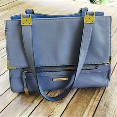 Blue Handbag from Macy's by Nine West Excellent condition. Worn once. No stains or rips's. Not trading at this time. Ships immediately. ❤️ Nine West Bags