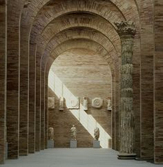 Roman bricks of the National Museum of Roman Art in Merida, Spain by Rafael Moneo