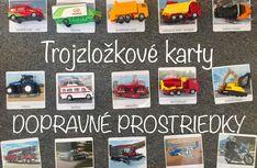 Trojzložkové karty DOPRAVNÉ PROSTRIEDKY (na stiahnutie zadarmo) Montessori Activities, Tractor