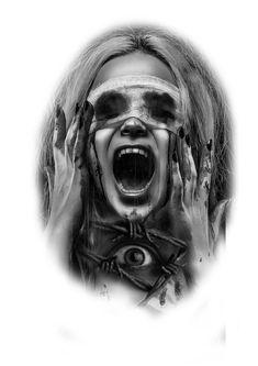 Scary Tattoos, Life Tattoos, Body Art Tattoos, Sleeve Tattoos, Cool Tattoos, Arte Horror, Horror Art, Tattoo Sketches, Tattoo Drawings