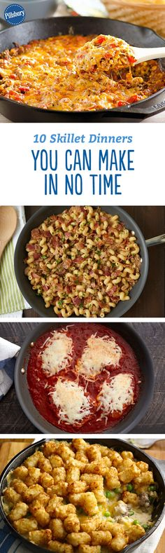 10 Skillet Dinners You Can Make in No Time - When dinnertime rolls around and you need a tasty supper (stat!), whip up one of these delicious skillet meals.