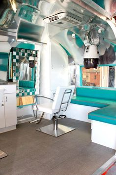 This Old Trailer Was Transformed Into An On-The-Go Retro Salon