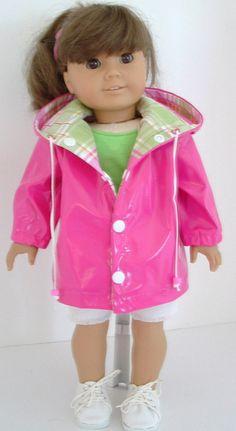 Hot Pink Rain Jacket by MyGirlClothingCo on Etsy, $24.00