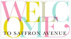 Welcome to Saffron Avenue (previously witty and in love)