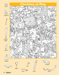 "Képtalálat a következőre: ""hidden pictures highlights"" Hidden Picture Games, Hidden Picture Puzzles, Hidden Object Puzzles, Hidden Objects, Picture Search, Find Picture, Image Search, Preschool Worksheets, Craft Activities For Kids"