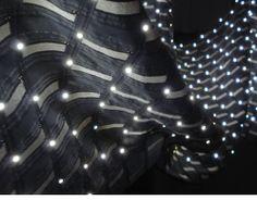 Zane Berzina: E-static Shadows, woven LED installations