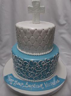 Baptism+Elegant+Cake++RELIGIOUS+CAKES+THE+Boulangerie