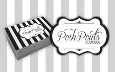 Posh Pouts Boutique - #LogoDesign and #BusinessCard Production