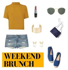 """Weekend Brunch"" by aranzazu-ml ❤ liked on Polyvore featuring Charlotte Russe, rag & bone, Glamorous, Ray-Ban, 3.1 Phillip Lim, Lipsy, day, weekend, brunch and dailyset"
