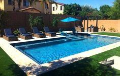 Awesome Backyard Pool Ideas - Landscaping Backyard Pool Ideas Pool 065 Dolphin Pools And Spas Pool Ideas Rectangular Pool Pool Spa, Small Swimming Pools, Small Pools, Swimming Pools Backyard, Small Inground Pool, Small Backyards, Pools Inground, Indoor Pools, Inground Pool Designs