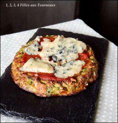 """Pizza"" Courgettes Mozzarella ou Fourme d'ambert"