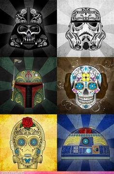 Omg... Star Wars Sugar Skulls!!!!