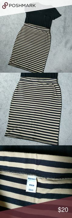 """Brown Black Pencil Skirt 15"""" waist, 18.75"""" hip, 24"""" length. Excellent condition. Hardly worn. Old Navy Skirts Pencil"""