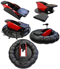 GoBoat bumper boat using trolling motor and an inner tube.