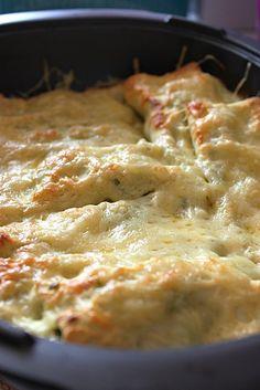 Cannellonis au poisson, à la ricotta et aux épinards frais