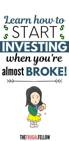 How to Invest with Little Money – The Frugal Fellow If you want to start investing, this post will give you some tips on how to invest money for beginners. Investing In Stocks, Investing Money, Real Estate Investing, Stock Investing, Money Tips, Money Saving Tips, Money Plan, Earn Money, Investment Tips