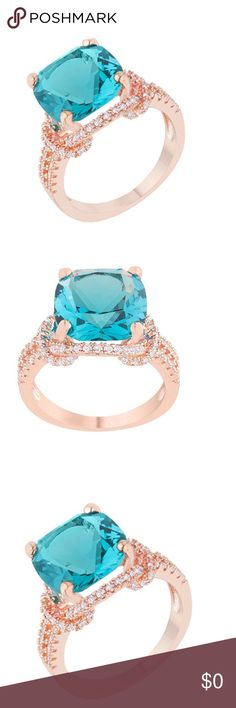 Kate Bissett Rose Gold Charlene Ring w/ Swarovski Coming soon!!!! Rose Gold ring with Swarovski Crystals.   Vibrant Swarovski crystal glitters atop a gleaming band for eye catching allure. 18k rose gold plated brass kb12 retail $68 Kate Bissett Jewelry Rings