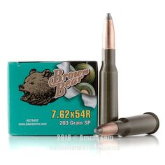 Brown Bear 7.62x54r Ammo - 500 Rounds of 203 Grain SP Ammunition #762x54r #762x54rAmmo #BrownBear #BrownBearAmmo #BrownBear762x54r #SPAmmo