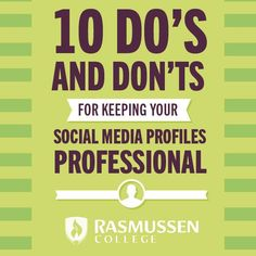 Social Media Do's & Don'ts: 10 Tips for Keeping Your Profiles Professional - blog article #socialmediatips #advice #careeradvice
