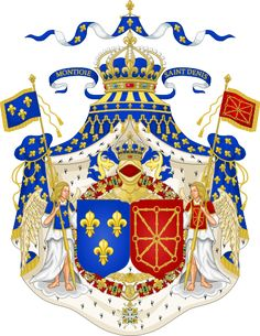 Nobility of France, via Almanachdegotha.org. Grand Royal Coat of Arms of France Navarre