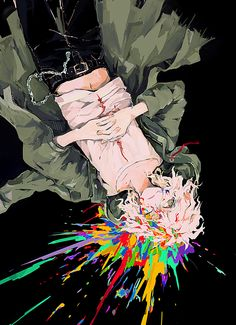 #nagito #komaeda #danganronpa #horror #anime #art