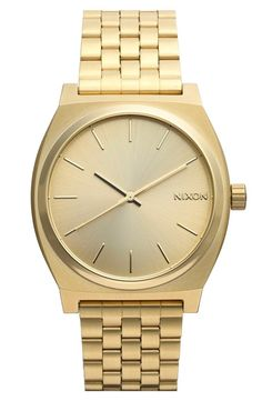 A sleek gold Nixon watch - #mothersday / @nordstrom #nordstrom
