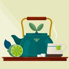 Tea time Premium Vector