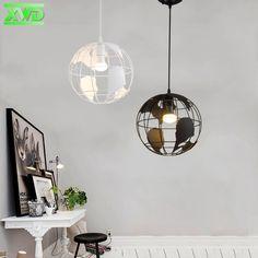 Vintage Globe Shape Indoor Pendant Lamp Coffee House/Dining Hall/Club/Foyer/Shop/Bar E27 Lamp Holder 110-240V Free Shipping