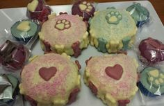 Birthday treats from Pupcakes.dogbakery.com.au