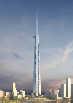 Kingdom Tower, the soon to be the world's largest tower: 1,000 meters tall #architecture