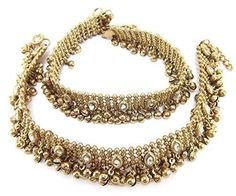 Shining Diva Ethnic Kundan Studded Payal Anklet For Women Girls - http://weddingcollections.co.in/product/shining-diva-ethnic-kundan-studded-payal-anklet-for-women-girls/