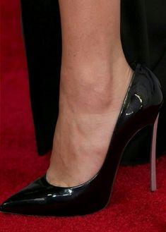 Selena Gomez Black Closed Toe Heels, Black Stilettos, Black Shoes, Pretty Heels, Beautiful High Heels, Sexy Legs And Heels, Sexy High Heels, Nylons Heels, Stiletto Heels