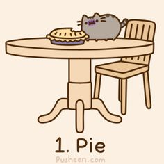 Pusheen the cat- more pie Pusheen Gif, Pusheen Love, Cute Images, Cute Pictures, Pusheen Stickers, Cutest Cats Ever, Thanksgiving Wallpaper, Pet Costumes, Cute Cats And Kittens
