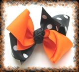 How To Make Boutique Hair Bow--Example 1--2 Tone HairBow