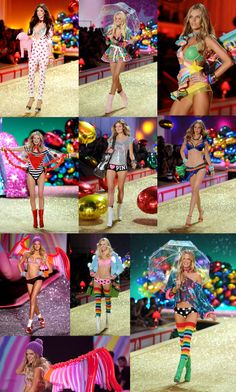 Victoria Secret colorful candy rave