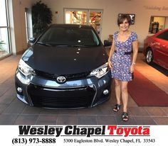 https://flic.kr/p/Ha9ztw | Happy Anniversary to Milleyvi on your #Toyota #Corolla from Luis Veas at Wesley Chapel Toyota! | deliverymaxx.com/DealerReviews.aspx?DealerCode=NHPF