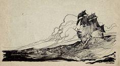 Boceto del Barco Queen Anne's Revenge del pirata Barbanegra